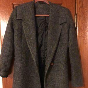 Jackets & Blazers - Zibilondon dark gray coat size UK 8